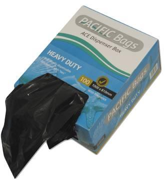 Liners Rubbish Black 82L  810x1000 Pkt 100