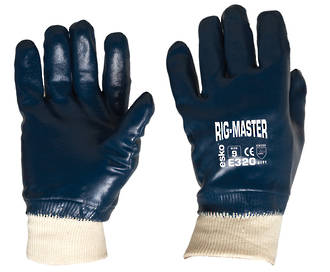 E320 Rig-Master FD Nitrile Knitted Wrist M-2XL