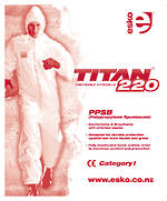 Coverall T220 White Sizes S-3XL